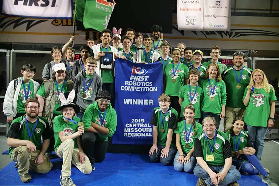 The Barstow School Robotics First place