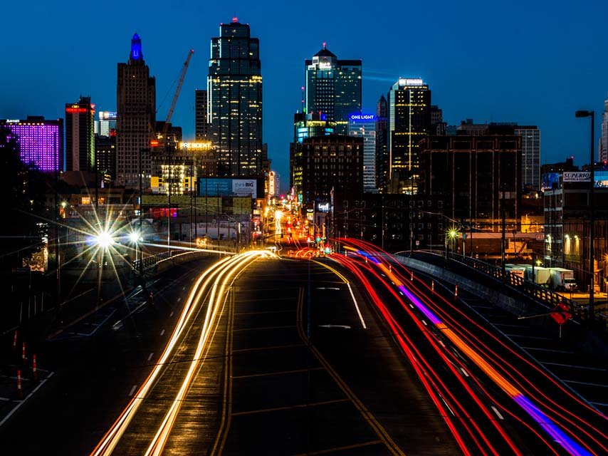 Kansas City with a little of its traffic.